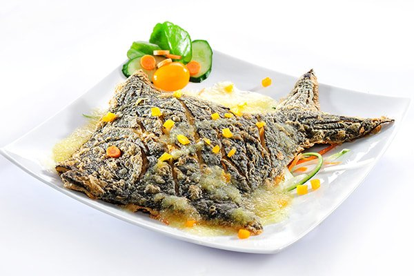 Steamed Ginger Soy Pomfret Fish