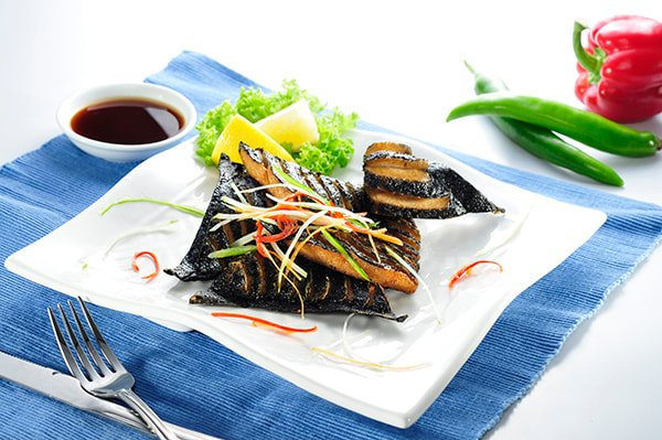 Veg. Black Pomfret Fish