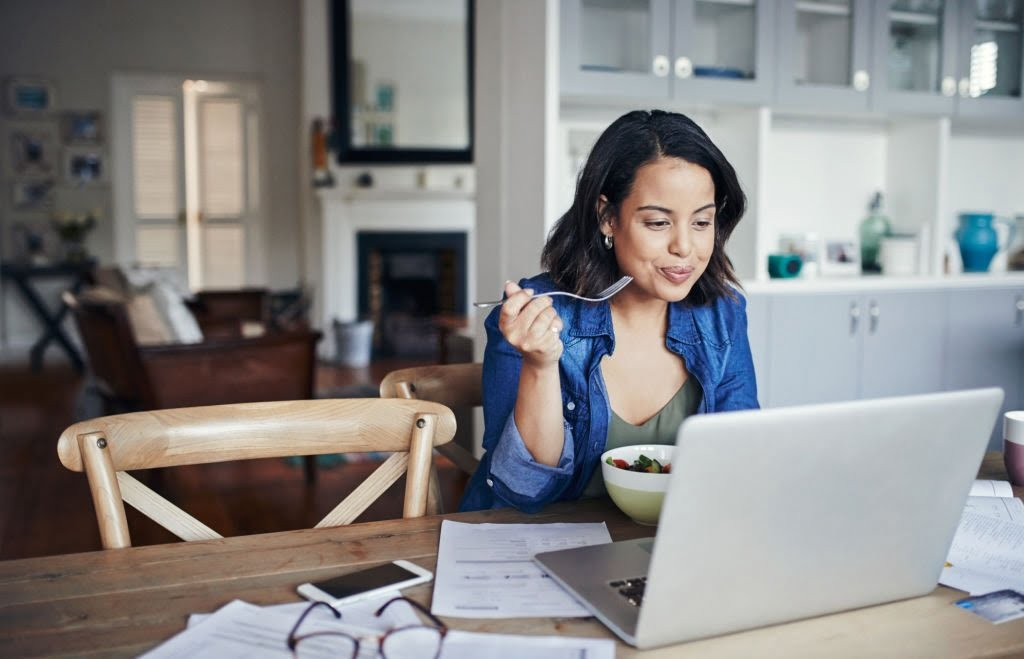 sticking to a vegetarian diet while working from home