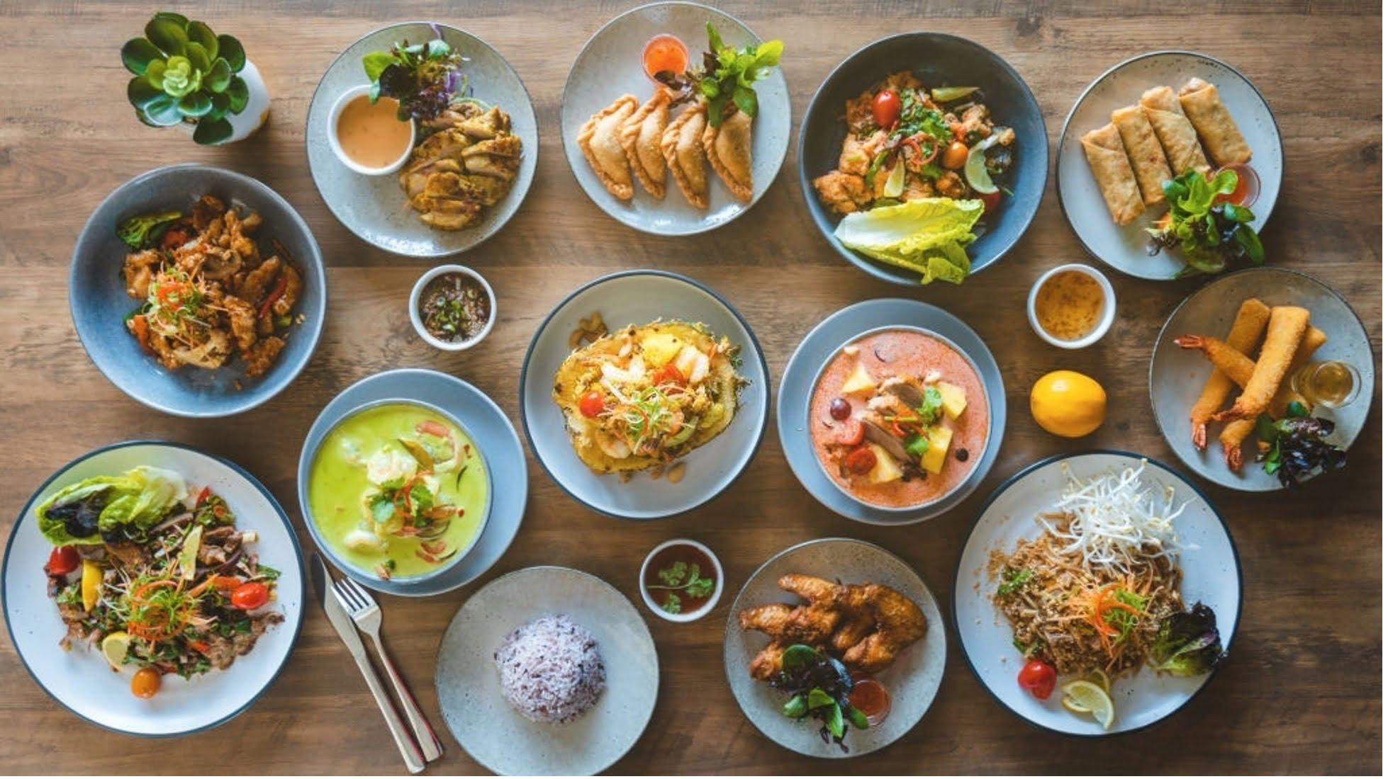 vegetarian food on table
